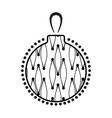 Christmas Ball Black And White Icon vector image vector image