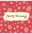 christmas retro greeting card vector image