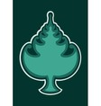 Christmas tree emblem vector image vector image