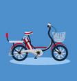 city retro bicycle vintage style bike blue vector image