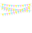 colorful realistic soft colorful flag garland vector image vector image