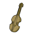 comic cartoon violin vector image vector image