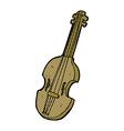 comic cartoon violin vector image