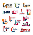 creative business corporate indentity letter l vector image