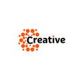 creative energy sun abstract brain hemispheres vector image vector image