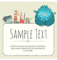 Cute doodle monster greeteng or invitation card vector image vector image
