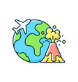 disaster travel rgb color icon vector image vector image