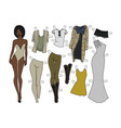 dressing paper doll vector image vector image