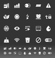 Electronic sign icons on gray background vector image vector image