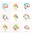 email business symbols or at signs logo set vector image vector image