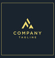 fa triangle logo vector image vector image