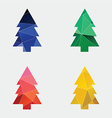 fir-tree icon Abstract Triangle vector image vector image
