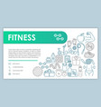 fitness web banner business card template gym