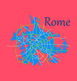 flat city map of rome with well organized vector image vector image