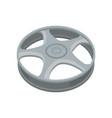 flat icon of alloy wheel gray titanium car vector image vector image