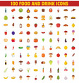 food and drink icons flat style vector image