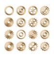 gear wheels set retro vintage metal cogwheels vector image