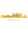 guatemala city skyline golden silhouette vector image vector image