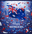 happy australia day greeting card vector image vector image
