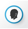 head icon symbol premium quality isolated human vector image