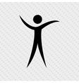 human figure design vector image vector image