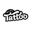 image of tattoo studio logo vector image