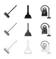 isolated object of cleaning and service sign set vector image