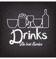 menu drinks service icon vector image vector image