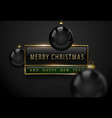 merry christmas and happy new year luxury banner vector image