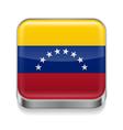 Metal icon of Venezuela vector image