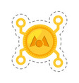 money mastercoin golden digital vector image