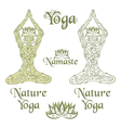 Nature Yoga elements vector image vector image