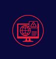 network warning alert icon vector image vector image