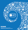 off icon sign Nice set of beautiful icons twisted vector image vector image