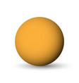 orange sphere ball or orb 3d object with vector image vector image