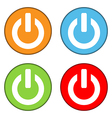 Power sign button set vector image vector image