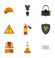 Repairs icons set flat style vector image vector image