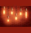 retro edison light bulb set vector image vector image