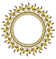 royal decorative round frame vector image vector image