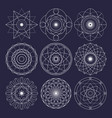 sacred geometry design elements original outline vector image