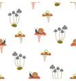 seamless pattern mushroom vector image vector image