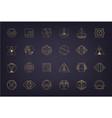 set abstract geometric logos art deco vector image