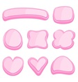 set pink frame vector image vector image