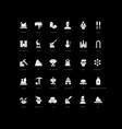 simple icons snow sculpture festival vector image