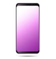 smart phone purple pastel screen vector image vector image