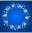 snow border circle frame christmas texture vector image vector image