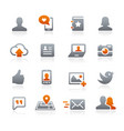 social web icons - graphite series vector image vector image