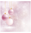 Soft and blurry Christmas background with baubles vector image vector image