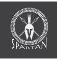 spartan helmet with spears and shield vector image vector image