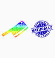 spectral dot butchery blade icon and vector image vector image